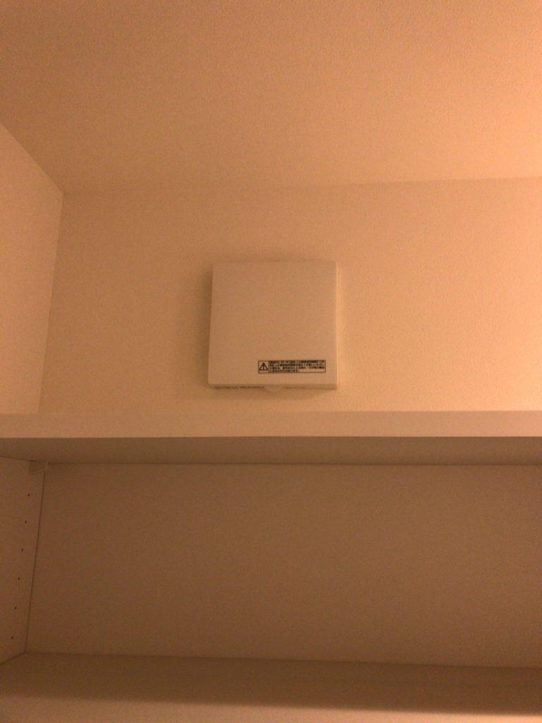 シューズクロークには換気扇があると臭くならなくて快適になります。