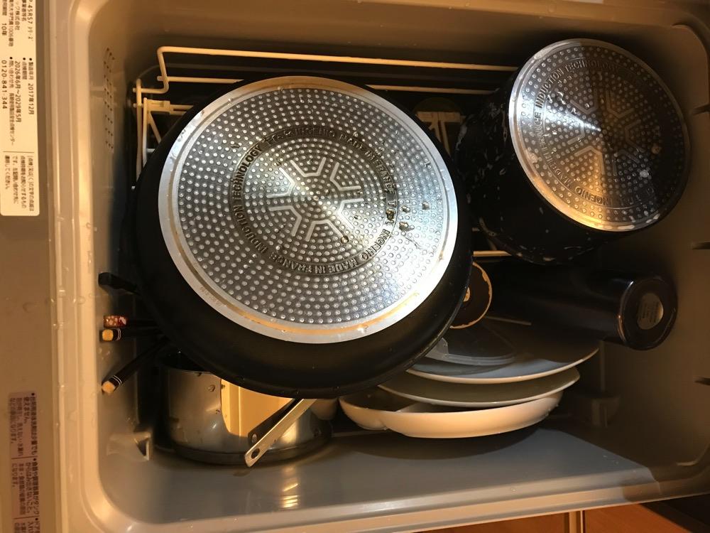 鍋もフライパンも入る食洗機