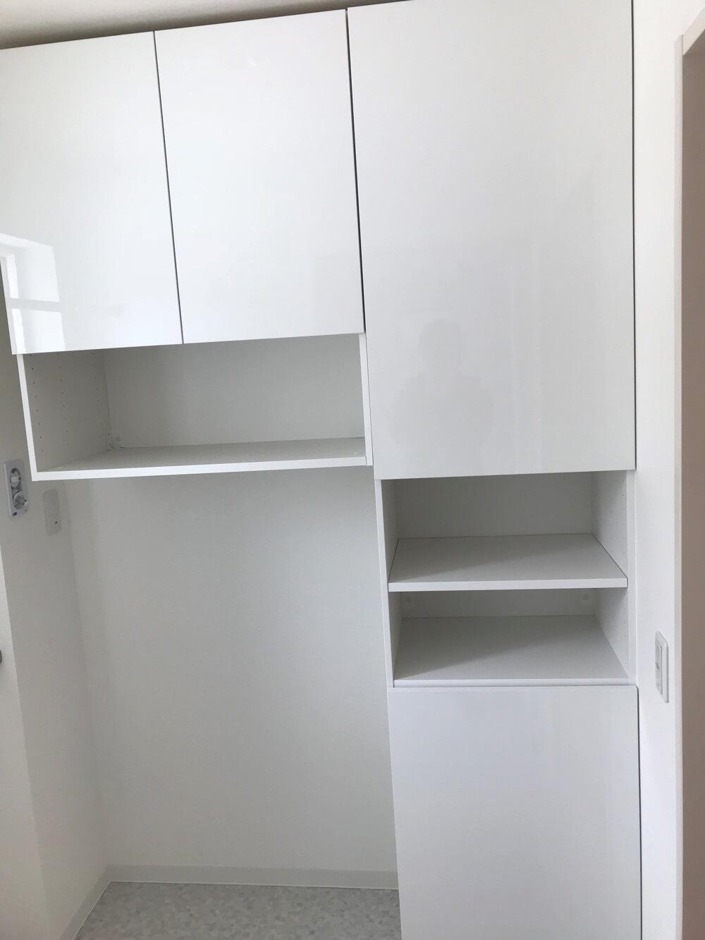 脱衣室に洗面台がないと大きい収納を作れます