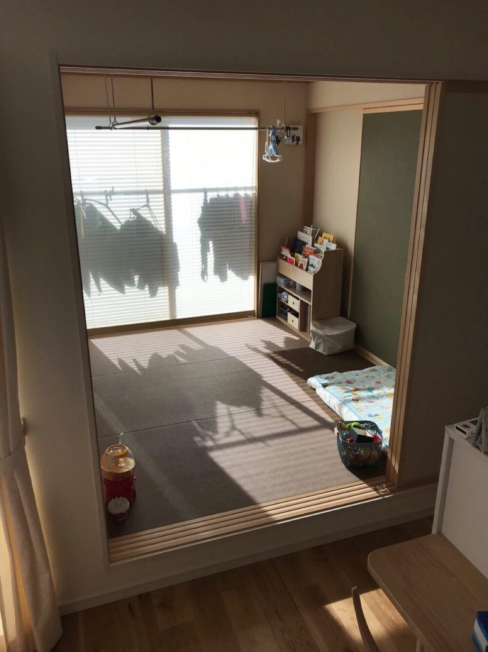 洗濯物を干して、畳んで、しまえる場所が1階にあると、家事がすごく楽になりますよ