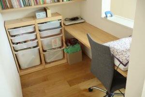 ブログを書いたり仕事をするのに最適な2階ホールの書斎