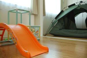 子ども部屋は大部屋を引き戸で仕切ると、ライフスタイルに合わせて柔軟に部屋を使える