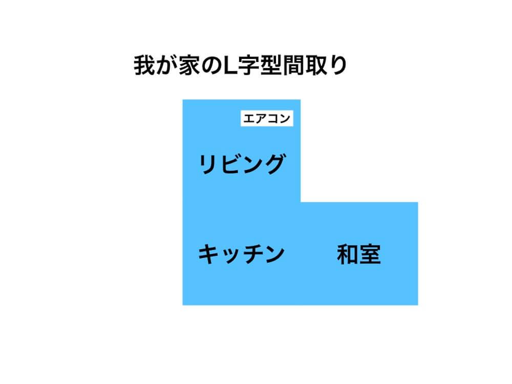 L字型間取りは日当たり抜群で空間を区切れるのが最高
